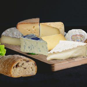 plateau fromages Baud et millet bordeaux